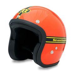 SEVENTIES Orange - orangener Vintage Helm