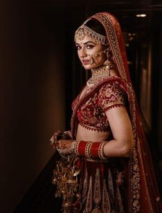 Looking for Stunning Yuvika Chaudary on her wedding day? Browse of latest bridal photos, lehenga & jewelry designs, decor ideas, etc. on WedMeGood Gallery. Indian Bridal Photos, Indian Bridal Outfits, Indian Bridal Fashion, Bridal Dresses, Bridal Poses, Bridal Photoshoot, Bridal Portraits, Wedding Poses, Wedding Bands