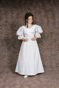 $30.00 Costume Rental  Anne Concert  blue dress w/poofy sleeves & lace trim