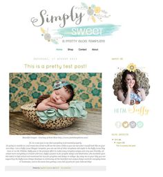Simply Sweet Blogger Template Theme (10) Blog Design, Web Design, Graphic Design, Blog Layout, Creating A Blog, Blogger Templates, Blogger Themes, News Blog, Ideas