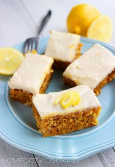 Carrot Cake Bars with Lemon Cream Cheese Frosting