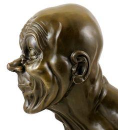 Bronze Head - Franz Xaver Messerschmidt - signed - Real Bronze: Amazon.co.uk