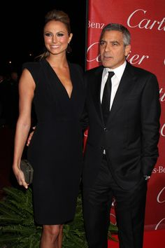 Red carpet romance! George Clooney and Stacy Keibler in Palm Springs