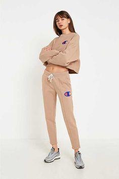 Champion - Pantalon de jogging fuselé marron clair