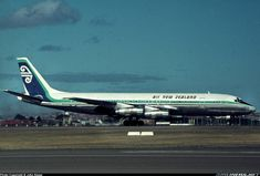 Photo taken at Sydney - Kingsford Smith International (Mascot) (SYD / YSSY) in New South Wales, Australia in Jet Airlines, Nz History, Douglas Dc 8, Air New Zealand, Commercial Aircraft, Civil Aviation, Cabin Design, South Wales, Airplanes