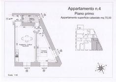 App. n° 4 - Ingresso, soggiorno con angolo cottura, disimpegno, camera, bagno. Comune di Campiglia Marittima (LI)