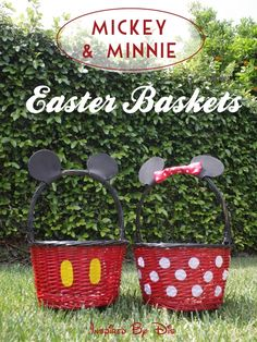 DIY Mickey and Minnie Easter Baskets // Inspired By Disney