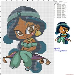 Just Cross Stitch, Beaded Cross Stitch, Crochet Cross, Crochet Chart, Cross Stitch Charts, Disney Cross Stitch Patterns, Cross Stitch Designs, Stitch Disney, Crochet Disney