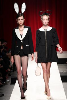 Moschino Spring 2014 Ready-to-Wear Fashion Show - Ruby Jean Wilson and Maud Welzen