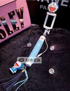 Cartoon Hello Kitty und Stich luxuriöse Selfie-Stick mit integrierter Bluetooth…