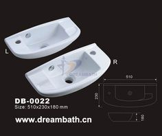 Product Name:Small Ceramic Basin Model No.: DB-0022 Dimension: 510X230X180mm  (1 inch = 25.4 mm)  Volume: 0.03CBM  Gross Weight: 8KGS  (1 KG ≈ 2.2 LBS) Basin shape: Rectangular
