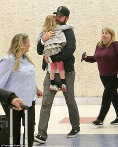 Handsome: John, went low key in a black jacket over a white shirt, grey jeans, and bla. Hot Dads, John Krasinski, Four Year Old, Emily Blunt, Two Daughters, Grey Jeans, Celebs, Celebrities, Jfk