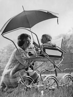 1968  Princess Beatrix of the Netherlands with her son, Willem-Alexander Prince of Orange.