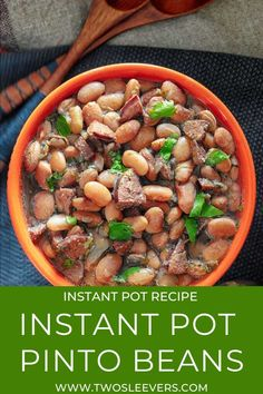 This Instant Pot Pinto Beans recipe will quite possibly be the best Mexican-style beans you've ever had. | Instant Pot Pinto Beans | Pressure Cooker Pinto Beans | Mexican Pinto Beans | Pinto Beans Recipe | How To Cook Pinto Beans | Mexican Beans | Mexican Instant Pot Recipes | TwoSleevers | #twosleevers #pintobeans #instantpotrecipes #mexicanbeans #mexicanrecipes