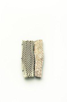 1° Premio Silke Trekel, Man and woman Spilla, porcellana, argento - Brooch, porcelain, silver