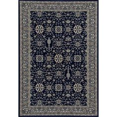 Traditional Design High Quality Floral Area Rug, 075