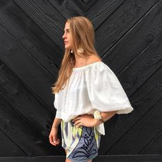 Off The Shoulder MIdi Top #Anthropologie #MyAnthroPhoto