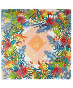 Peach Diamond Jungle Print Silk Scarf, Kenzo. Shop the latest silk scarves from the Kenzo collection online at Liberty.co.uk
