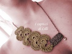 crochet necklace tutorial - Google Search