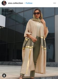 Modern Hijab Fashion, Street Hijab Fashion, Hijab Fashion Inspiration, Abaya Fashion, Kimono Fashion, Modest Fashion, Fashion Dresses, Fashion Ideas, Iranian Women Fashion