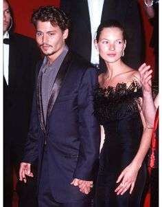 Iconic Cannes Fashion. 1997. Depp and Kate Moss. Yep. This was a #moment.