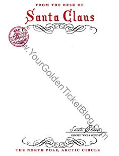 from the desk of santa claus letterhead