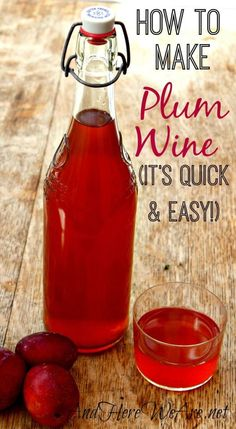 A quick and easy plum wine recipe you can make at home! Homemade Wine Recipes, Plum Recipes, Homemade Liquor, Almond Recipes, Wine Drinks, Alcoholic Drinks, Beverages, Cocktails, Fermentation Recipes