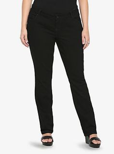 Torrid Barely Boot Jean - Black Rinse (Regular) | Torrid