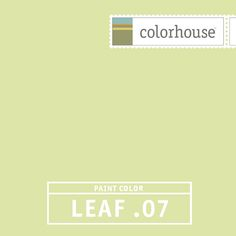 Colorhouse LEAF .07: Awakening and luminous, vibrant like spring. Great for lofts and large spaces filled with natural light, also lively in kitchens - an unexpected treat.