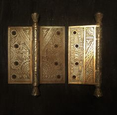Bronze Antique Oriental 4 1/2 inch Hinges 530945 by CharlestonHardwareCo on Etsy
