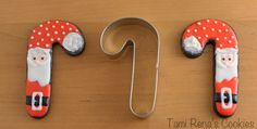 Tami Renā's Cookies: Santa Cookies Using Cutters of All Kinds