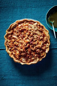Miso Caramel-Apple Pie | You've no doubt heard of—and enjoyed—salted caramel. Miso caramel takes that concept one step further, offering the irresistible salty-sweet flavor combo along with a richness that's unparalleled. You may just love this caramel so much that you want to make a big batch for yourself or to give as holiday gifts; we wouldn't blame you. And even though this pie is rather decadent, it still comes in with 12g less sugar than a popular online version of caramel apple pie.