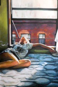 "Saatchi Art Artist Thomas Saliot; Painting, ""Bed window NY"" #art"