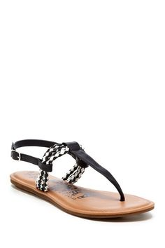 Pinky Helen Braided Thong Sandal