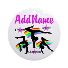 GYMNAST QUEEN Ornament (Round) Awesome personalized Gymnastics designs available on Tees, Apparel and Gifts. http://www.cafepress.com/sportsstar/10114301 #Gymnastics #Gymnast #WomensGymnastics #Gymnastgift #Lovegymnastics #PersonalizedGymnast