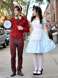 Alice in Wonderland Halloween costume idea. See more fun Halloween costumes and party ideas at one-stop-party-ideas.com