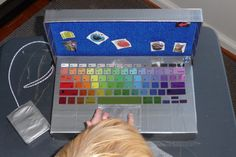 DIY Toy MacBook Pro! A great craft for kids to enjoy and parents will have fun helping out as well :) #shoebox #laptop