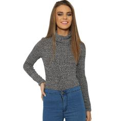 LONG WINTER SWEATER & TOPS  $10.00  If you get cold very easily like normal people usually do in the dead of winter and want to stay warm and look cool, this hot long sleeves, Casual pullover, Charcoal knitted turtleneck sweater & tops is the best grab for you!  This is for stylish ladies who always manage to appear seasonally appropriate and chic on a daily basis