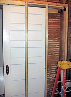 Coburn hideaway pocket door kit the kit is a simple way - Installing sliding doors interior ...