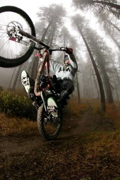 ♂ Outdoor adventure mountain bike Tony Hollywood at Sauze Trails in Milano, Italy - photo by matteocappe