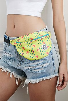 Avenue Dee Abstract Geo Print Fanny Pack | Forever 21 - 1000183525