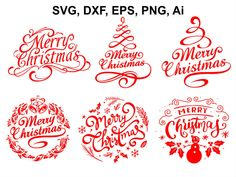 Merry Christmas SVG Christmas SVG file Christmas clipart | Etsy