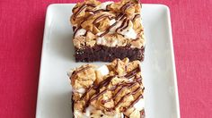 Treat your family to these delicious peanut butter brownies drizzled with chocolate frosting – a baked delight.