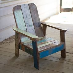 Adorable Recycled Teak Mini Lounger | dotandbo.com