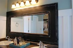 Home-Dzine - Builders Warehouse - Buy moulding to frame a bathroom mirror