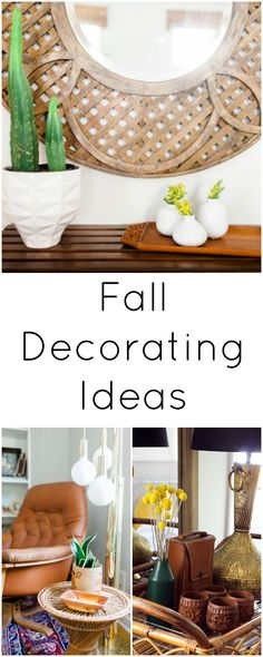 Decorating for Fall  - Rich Colors & Natural Textures