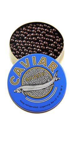 #Schokoladenkaviar mit Knusperkern von #Valrhona in original russischer Kaviardose - nur echt mit dem roten Gummiband.  Eine süße Überraschung!