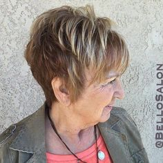 short hairstyle for older women