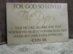 For God so Loved.... tile
