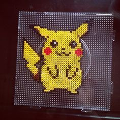 Pikachu Pokemon perler beads by dorothy_wow